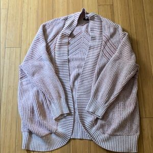 Pink oversized shawl sweater